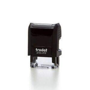 Trodat Printy 4910 Self Inking Rubber Stamp 26 X 9mm package With 5 Stamps