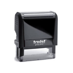 Trodat Printy 4912 Self Inking Rubber Stamp 47 X 18mm package With 5 Stamps