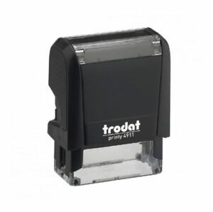 Trodat Printy 4911 Self Inking Rubber Stamp 38mm X 14mm package With 5 Stamps