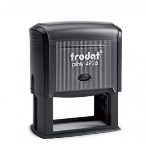 Trodat Printy 4926 Self inking Rubber Stamp 75mm X 38mm package With 5 Stamps