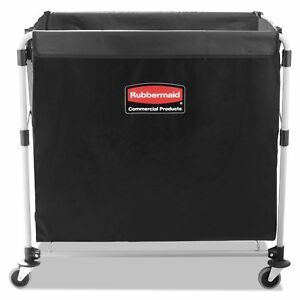 Rubbermaid Commercial Black silver Eight Bushel Collapsible X cart