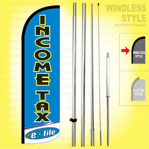 Income Tax E file Windless Swooper Flag Kit 15 Feather Banner Sign Bq h