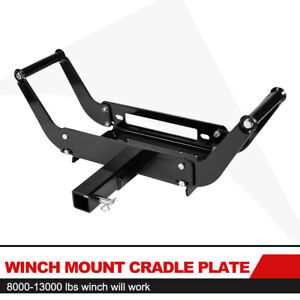 Winch Cradle Mounting Bracket Mount Plate W Adjustable W 2 Inch Receiver Hitch