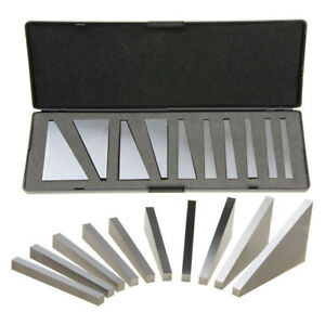 10pcs set Precision Angle Block Set 1 To 30 Degree With Case For Lathes