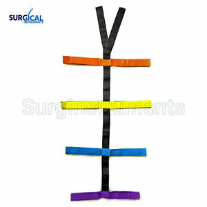 Backboard Color Coded Spider Straps For Spine Board Stretcher Immobilization