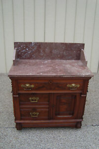 59515 Quality Antique Victorian Marble Top Washstand Chest Dresser