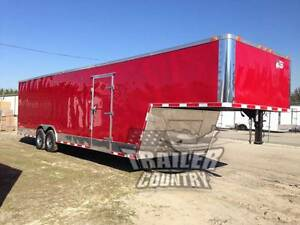 New 8 5x34 8 5 X 34 Enclosed Gooseneck Cargo Car Hauler Race Trailer 26 Box
