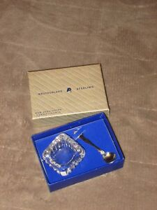 Westmoreland Sterling Silver George Martha Salt Spoon Cellar Dip With Box