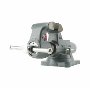 Wilton Serrated Machinist Bench Vise 3 1 2in Jaw Width Swivel Base 350s