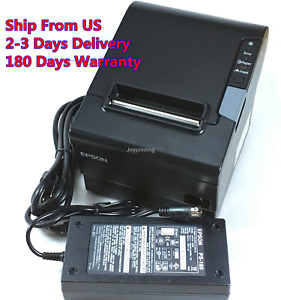 Epson Tm t88v M244a Pos Point Of Sale Thermal Receipt Printer Ethernet W Power