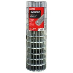 4 X 100 Ft Welded Wire Garden Fence Outdoor Everbilt 14 Gauge Mesh Steel Silver