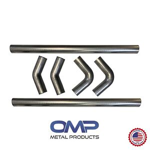 Universal Aluminized Exhaust Mandrel Bend Kit 2 1 2 Inch 1d 2 5 Clr Radius