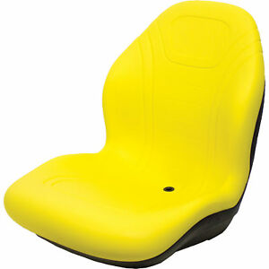 K m Highback Lawn garden ind tractor Seat yellow 19in 24in 21in