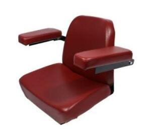 Oliver Tractor Cranberry Vinyl Covered Seat 1255 1355 1450 1550 1555 1650 1655