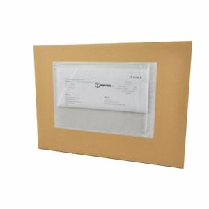 5000 Pack 4 X 6 Clear Plain Re closable Packing List Envelopes Bag