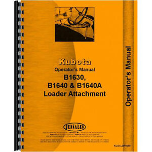 B1630 Loader Attachment Operators Manual For B6100e Tractor Diesel 4 Wheel Drive