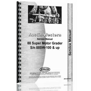 New Austin Western Super 88 Equipment Service Manual aw s 88s Mg
