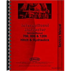 New Farmall 806 Tractor Service Manual hitch Hydraulics