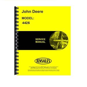 New John Deere 4425 Combine Service Manual