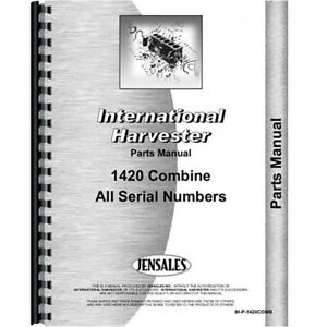 New International Harvester 1420 Combine Parts Manual