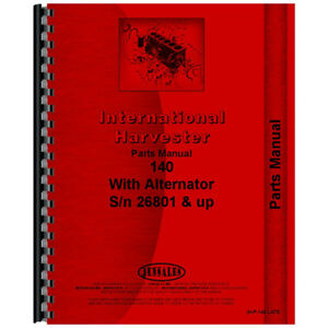 New Farmall 140 Tractor Chassis Parts Manual