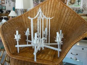 Faux Bamboo Vintage Pagoda Chandelier