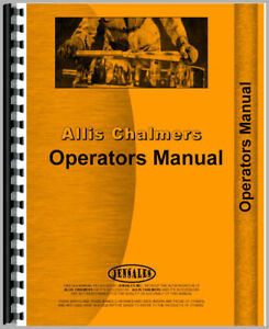 New Operator Manual For Allis Chalmers 5020 Plow Tractor