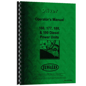 Oliver Power Unit 166 4 Cyl Diesel Engine Operator s Manual