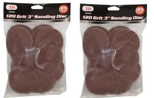 50 Pack 3 Roll Lock Sanding Discs 120 Grit Roloc Abrasive Pads Auto Body Type R