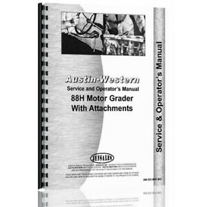 New Austin Western 88h Operator Equipment Service Manual aw so 88h Mg