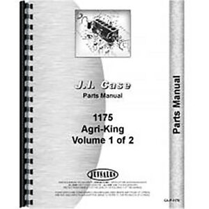 New Case 1175 Tractor Parts Manual
