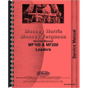 New Massey Ferguson 165 Loader Service Manual