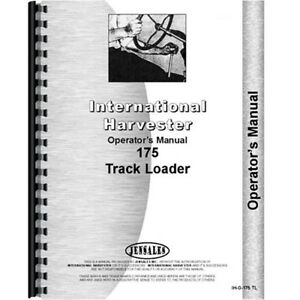 New International Harvester 175 Crawler Operators Manual