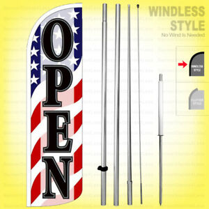 Open Windless Swooper Flag Kit 15 Feather Banner Sign Wave Wq60 h