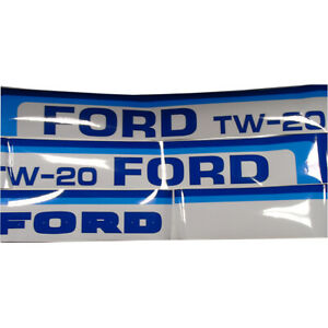 Vinyl Hood Decal Kit Fits Ford Tw20 Tractor