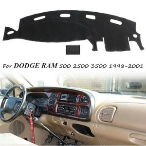 Dashmat Dashboard Cover Mat Black Carpet For Dodge Ram 1500 2500 3500 1998 2001