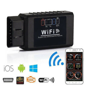 1x Wifi Bluetooth Obd2 Obdii Car Auto Diagnostic Scanner Kit For Iphone Android