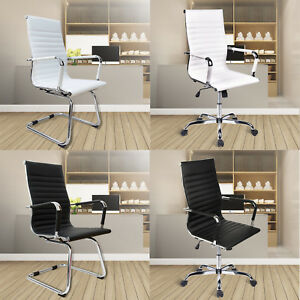 High Back Office Chair Pu Leather Seat Executive Computer Desk Chair Meeting