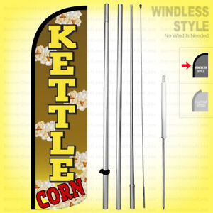 Kettle Corn Windless Swooper Flag Kit 15 Feather Banner Sign Yq h
