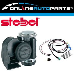 Stebel Nautilus Compact Motor Bike Air Horn Black 139db 12 Volt With Harness