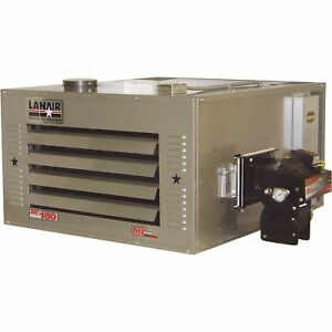 Lanair Waste Oil fired Thermostat controlled Heater Pkg Thru roof Chimney