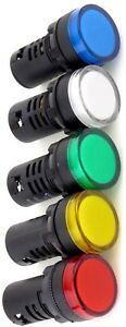 Yuco 22mm Compact Led Panel Mount Indicator Light Ac dc Choose Color