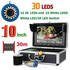10 Inch 30M Fish Finder Underwater Fishing Camera LEDs  Infrared Lamp Sea River