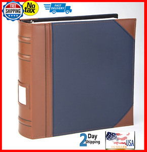 Executive Binder English Leather 2 Tone Stitching And Ribbed Spine 1 3 D ring
