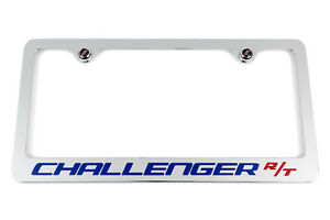 Dodge Challenger R T Chrome License Plate Frame Blue Red Usa