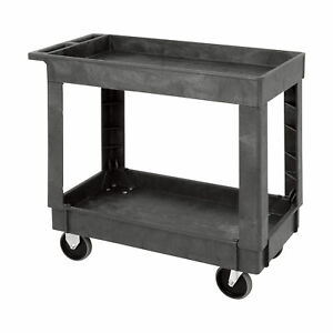 Quantum Industrial Plastic Cart 35inh 2 shelf Pc3518 33