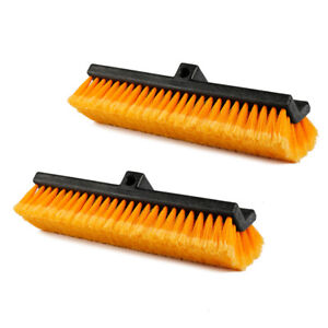 2x 15 Heavy duty Tri angle Wash Brush Head Soft Brush Carcare Car Truck Boat Rv
