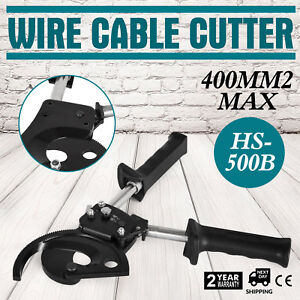 Ratchet Wire Cable Cutter Cut 400mm Electrical Tool Ratchetingadjustable Handle