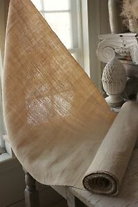 Grainsack Fabric Vintage Natural 6 4 Yards Homespun Linen Hemp 28 Inches Wide