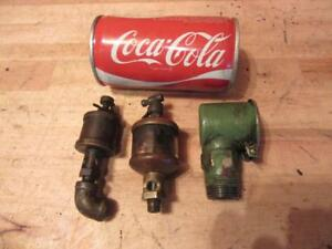 2 Antique Brass Ex cell o Spindle Oiler Detroit Controls Corp Hit Miss Engine